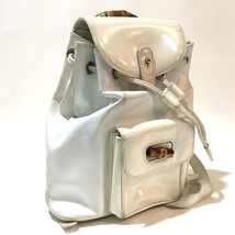 AUTHENTIC GUCCI Old Gucci Bamboo Backpack Bag White 0032034 - $215.00