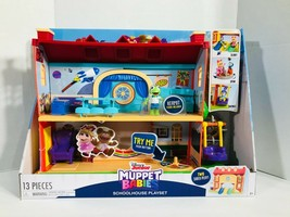 New Disney Junior Muppet Babies School House Playset Two Sided Play - $35.63