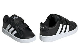 adidas Kids Grand Court Sneaker Infant & Toddler Shoes Core Black/Cloud ... - $29.99