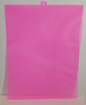 """NEW Lot Of 10 NEON PINK 7 Mesh Count Plastic Canvas Sheets 10.5""""x13.5"""" F... - $16.15"""