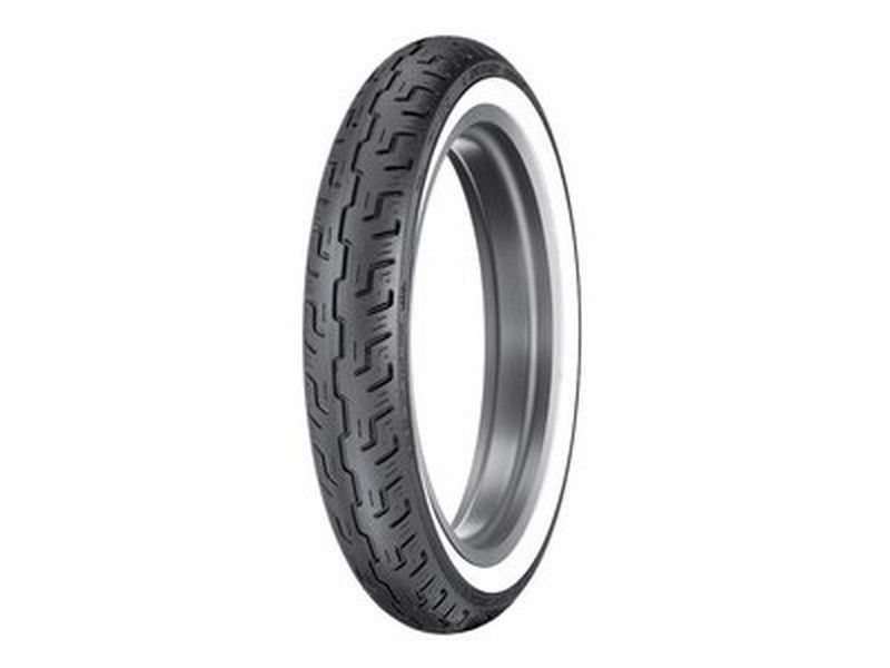 New Dunlop D401 Harley Davidson Front Wide White Wall WWW Tire 100/90H19