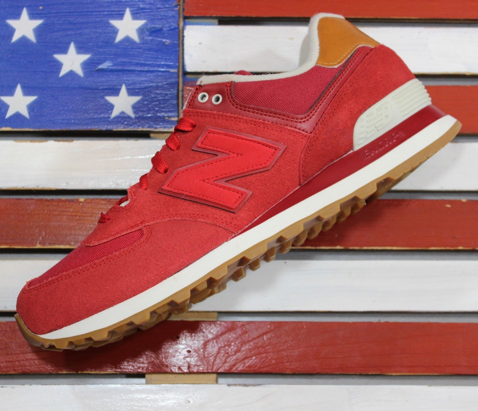 f3c2fb7bd8e00 New Balance 574 Suede CRIMSON-RED and 50 similar items. S l1600