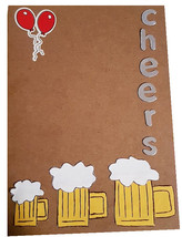 Happy Birthday Cards -Unique Brown Card For Men Who Enjoy A Glass Of Beer - $4.63