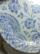 Corelle Impressions Botanique Blue Floral Swirl Rim 4 Salad Bread Plates... - $29.65