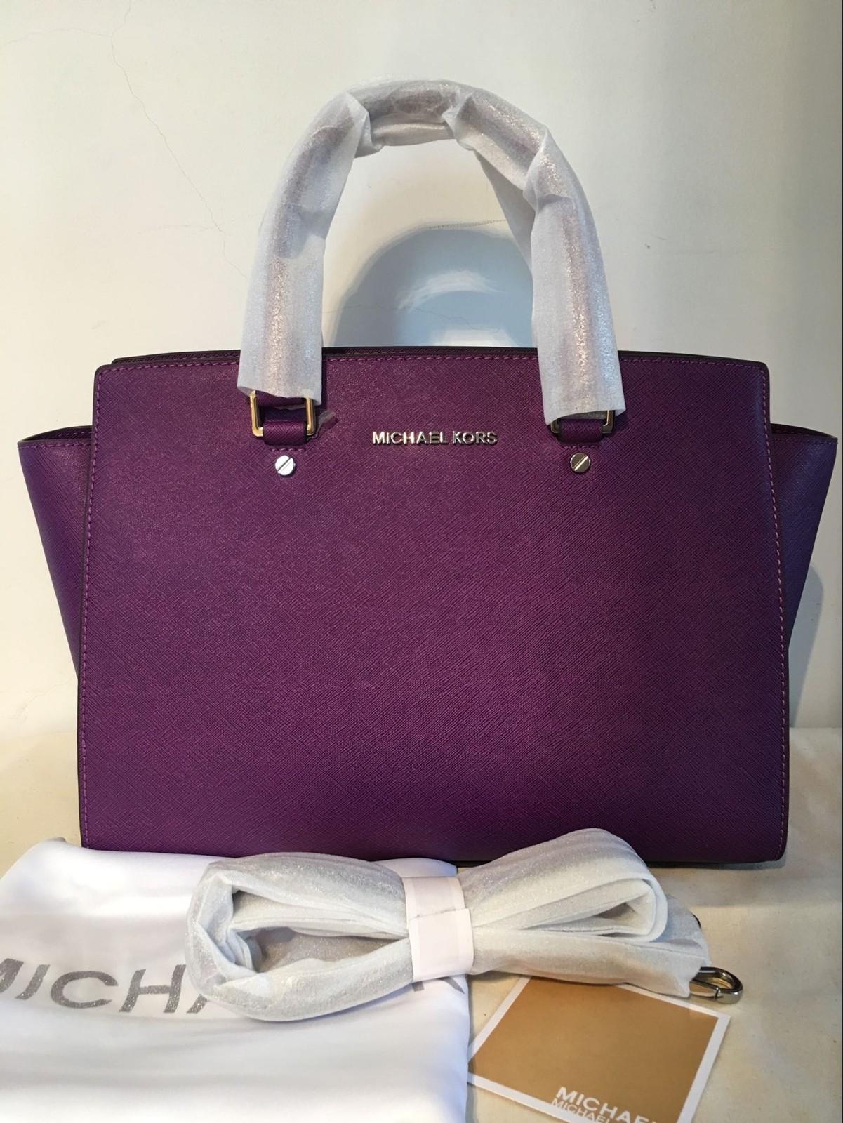 dada4a60c2f4d9 Qq 20170520101306. Qq 20170520101306. Previous. Michael Kors Women's Selma  Large Top Zip Satchel Satchel Handbag Purple