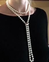 Opera 7.8-8mm Akoya pearl Flapper DAISY Ruby Diamonds enhancer 14k Necklace - $6,887.50