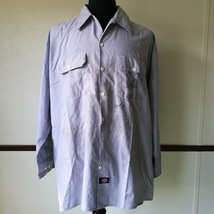 Dickies Long Sleeve Mechanic Work Shirt Heavily Distressed Size XL - €8,26 EUR