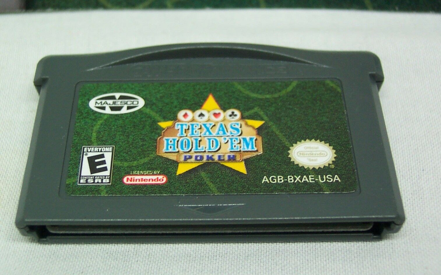 Texas Hold 'Em Poker NINTENDO GAME BOY ADVANCE GAME 2004 with MANUAL
