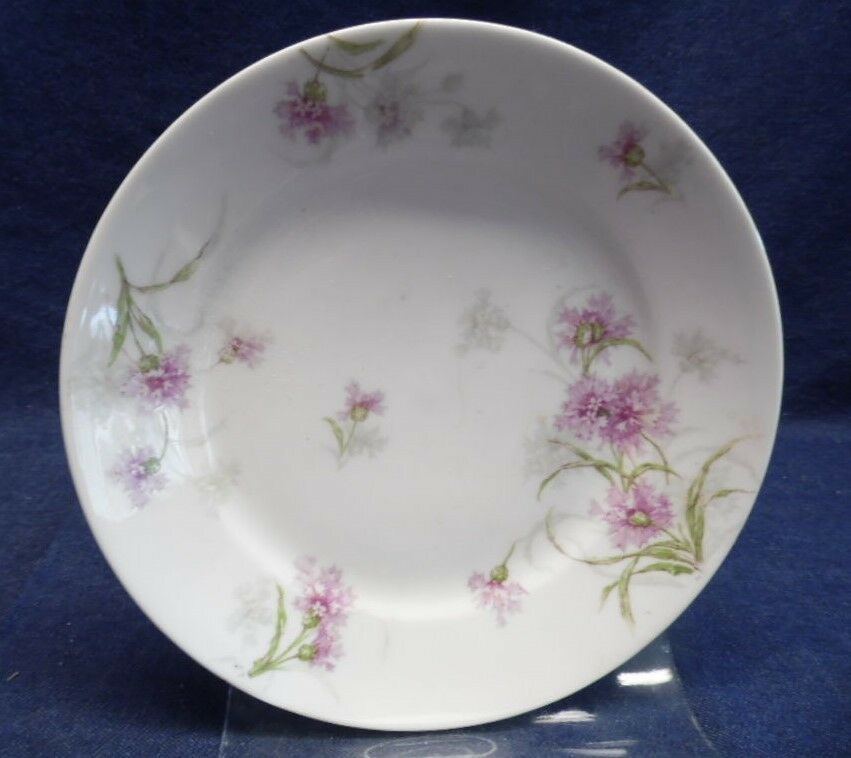"THEO HAVILAND LIMOGES PORCELAINE 7-1/2""  Dish w/PURPLE FLOWERS/FRANCE - $4.95"