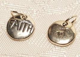 Faith Charm 925 Sterling Silver Pendant religious round disc