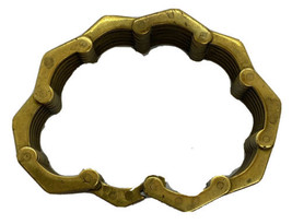 Roger Edet Paris Models Depose Brass Signed Bracelet - $71.95