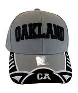 Oakland Men's Stars & Stripes Adjustable Baseball Cap (Gray/Black) - $11.95