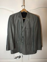 Stafford Men's 44R Three Button Blazer Gray Wool & Bamboo  - $19.79