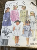 McCall's 2883 Girl's Dress Pattern  6 7 8 Sleeve &  Ruffles Variations 2... - $14.79