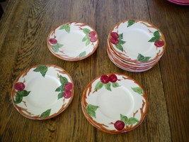 "VINTAGE FRANCISCAN WARE APPLE PATTERN 6 1/8"" SALAD/BREAD PLATES. LOT OF 14 - $24.70"