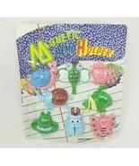 VINTAGE MAGNETIC MEMO HOLDERS ANIMAL PLASTIC MAGNETS BUG BUTTERFLY SNAIL... - $28.05