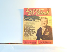 Latest Hit Songs August 1945  Vol 2 no 10 - vintage music book Van Johns... - $9.99