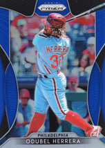 2019 Panini Prizm Baseball Card Blue Prizm Parallel #99 Odubel Herrera Phillies  - $0.99