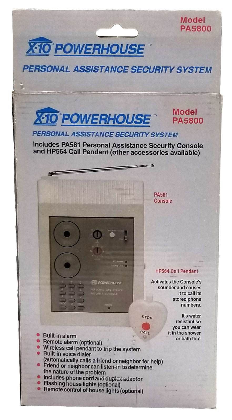 X-10 Powerhouse PA5800 Personal Assistance Security System Bin:10
