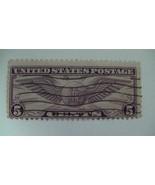 US Air Mail Violet Vintage USA Used 5 Cent Stamp - $8.46