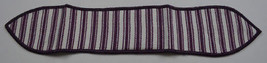 Longaberger Purple Ticking Small Handle Tie Collectible Accessory Fabric... - $8.99