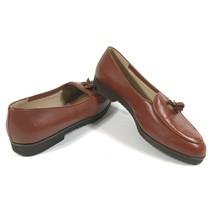 Bottega Veneta Womens 9 AAA Narrow Light Brown Loafers Tassels Diamond Pattern - $187.00