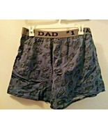 #1 DAD MEN'S SLATE GRAY MEDIUM COTTON LOOSE FIT BUTTON FLY BOXERS NEW - $8.97
