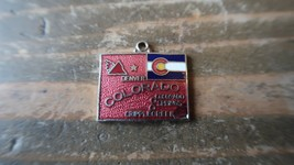 Vintage Enamel 2cm CRIPPLE CREEK DENVER COLORADO Charm - $10.89