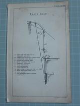 1911 SEAMANSHIP PRINT ~ BOATS DAVIT WITH KEY HOOK PLATE HEEL SOCKET - $52.59