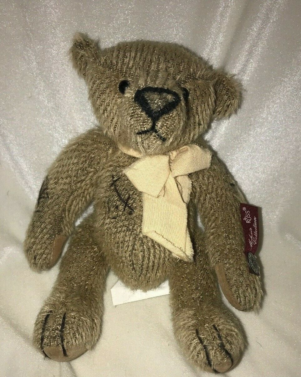 Primary image for Russ Mohair Collection Bartholomew Teddy Bear Stuffed Animal Plush 9""