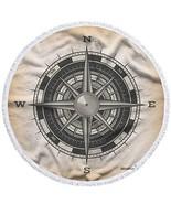 Moslion Compass Beach Towel Blanket Nautical Wind Rose Vintage Compass f... - $32.85