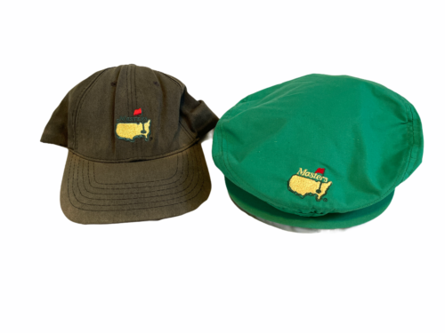 Lot 2 Vintage Masters Golf Tournament Cap Hat Augusta National USA Made