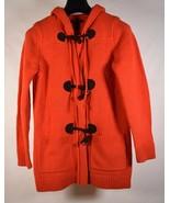 Ralph Lauren Sweater Orange Toggle Cardigan Hoodie Jacket Wool XS Womens - $89.10