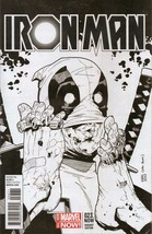 Iron Man #23 Deadpool Party Sketch Variant - $50.00