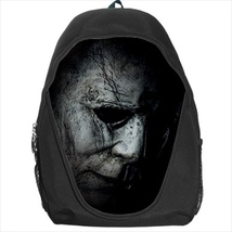 backpack mike myers halloween mask horror scary michael  school bag  - $39.79