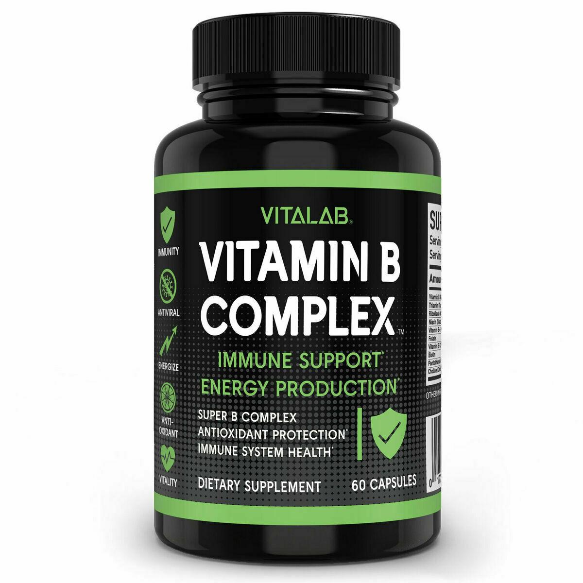 Natural Vitamin B Complex Sustained Release Vitamin B1 B2 B3 B6 B12 Organic - $41.53