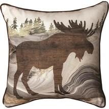 Moose SLLOFM Fluidity Lodge Throw Pillow 18 x 18 Polyester - $34.65