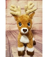 """Build A Bear 17"""" Vixen the Reindeer Team Santa Sparkle Fur Christmas Hol... - $16.14"""