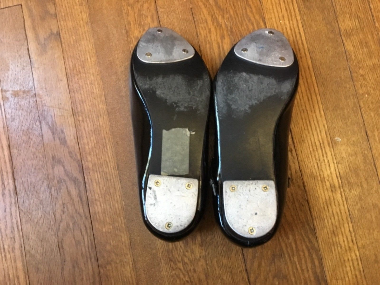 Revolution Girls Black Tap Shoes Size 5 AD Medium - Great Condition