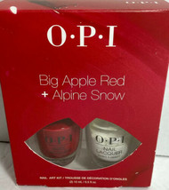 OPI Nail Polish Big Apple Red + Alpine Snow Red White Nail Lacquer (2) .... - $20.89