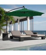 Patio/Garden/Deck 10ft Solar LED Umbrella Easy Tilt Adjustment - Dark Green - $140.00