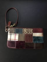 "Vintage Coach Bleecker Holiday Patchwork Large 7.5"" x  3.75"" Wristlet - ₨3,186.50 INR"