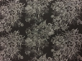 "RJR Bare Essentials Flower Bouquet Black 100% cotton Fabric by the yard 36"" - $7.00"