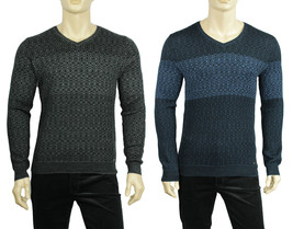 NEW MENS CALVIN KLEIN PREMIUM V NECK MERINO WOOL SILK PULLOVER SWEATER $128 - $55.99