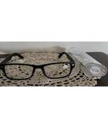 Black Plastic Framed ~ Spring Hinged ~  +2.00 Reading Glasses w/Clear Ca... - $16.50