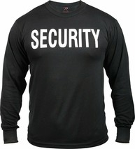 Black Long Sleeve Security Double Sided Raid Bouncer T-Shirt - $13.99+