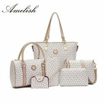 Nueva de moda 6 unid/set bolso de las mujeres de bolsas de alta calidad ... - $38.00