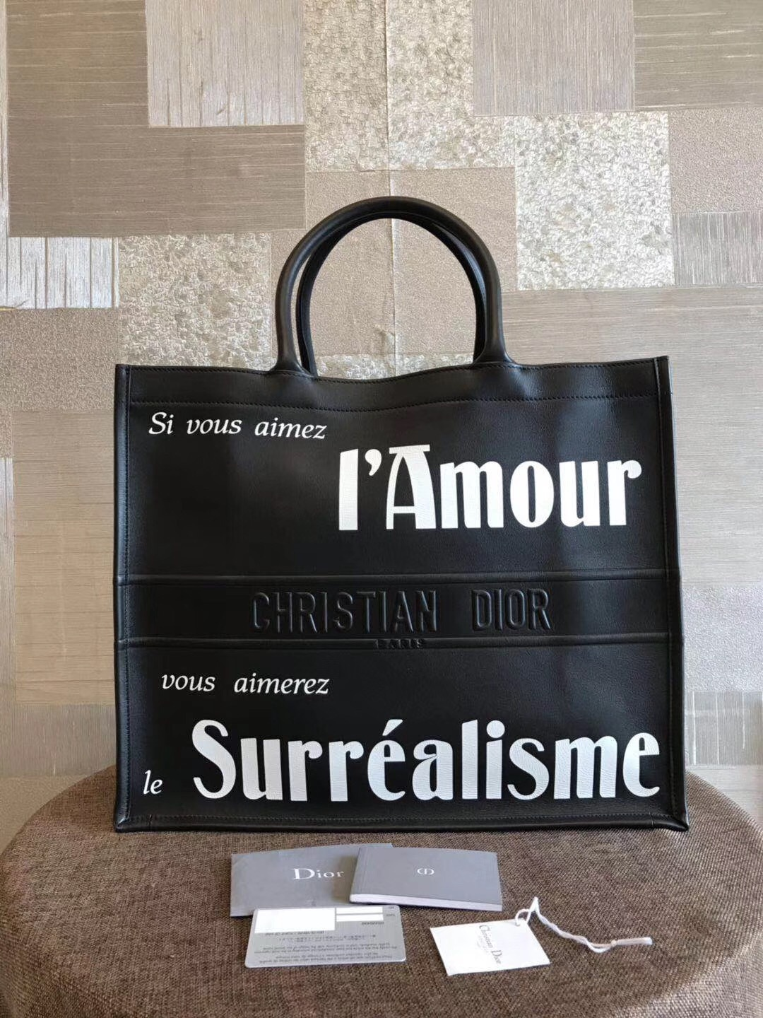 NWT AUTH CHRISTIAN DIOR 2019 BLACK OBLIQUE BOOK TOTE BAG LIMITED RUNWAY
