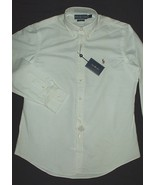 NWT Ralph Lauren Luxury Oxford White Button Down Shirt Classic Cotton 16... - $54.40