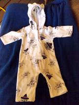 Carter's Kitten Hooded Pajama Fleece SLEEPER/ 6M - $9.95